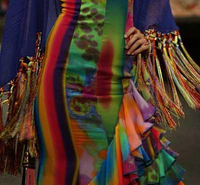 traje de flamenca estampado