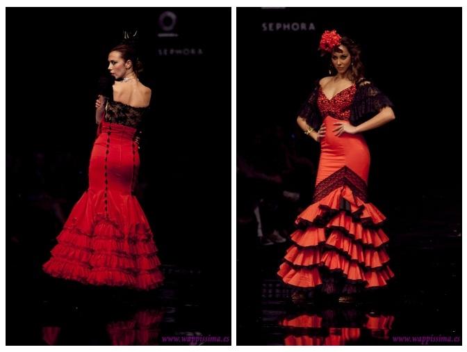 Simof 2011 trajes de flamenca de Lina y Aurora Gaviño
