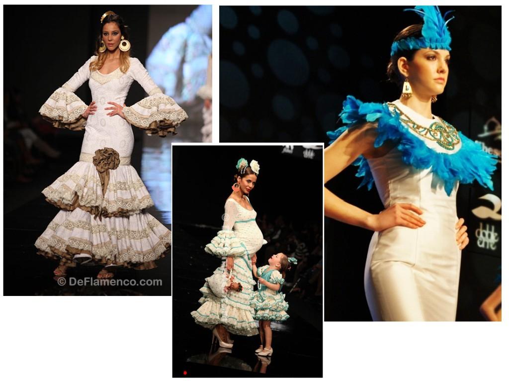 Trajes de flamenca blancos