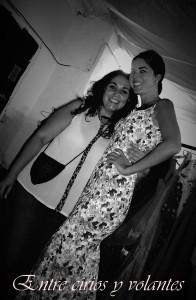 Cecilia Alcantara y Claudia Alfaro Entre cirios y volantes
