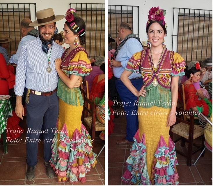 Rocio 2015 Entre cirios y volantes traje Raquel Teran