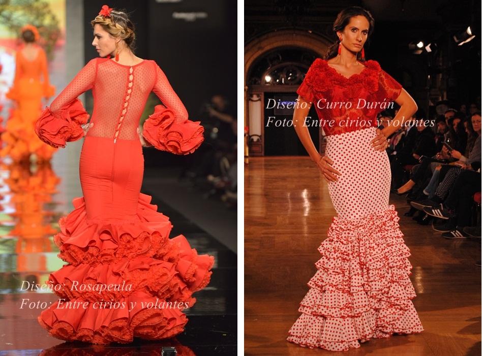 trajes de flamenca rojos rosapeula y curro duran