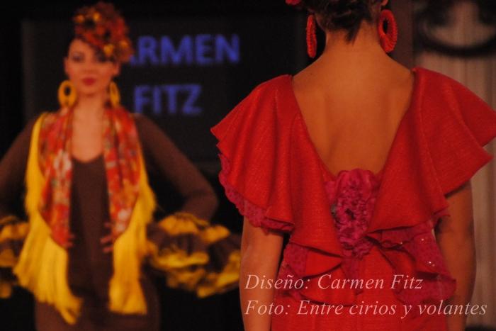 traje de flamenca carmen fitz foto entre cirios y volantes we love flamenco