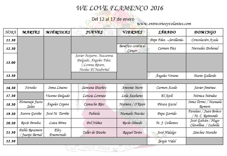 we love flamenco 2016 programa y horarios